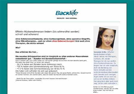 Schmerzexperten Backlife